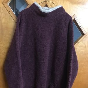 Warm maroon sweater. Size XL. From Cabela's